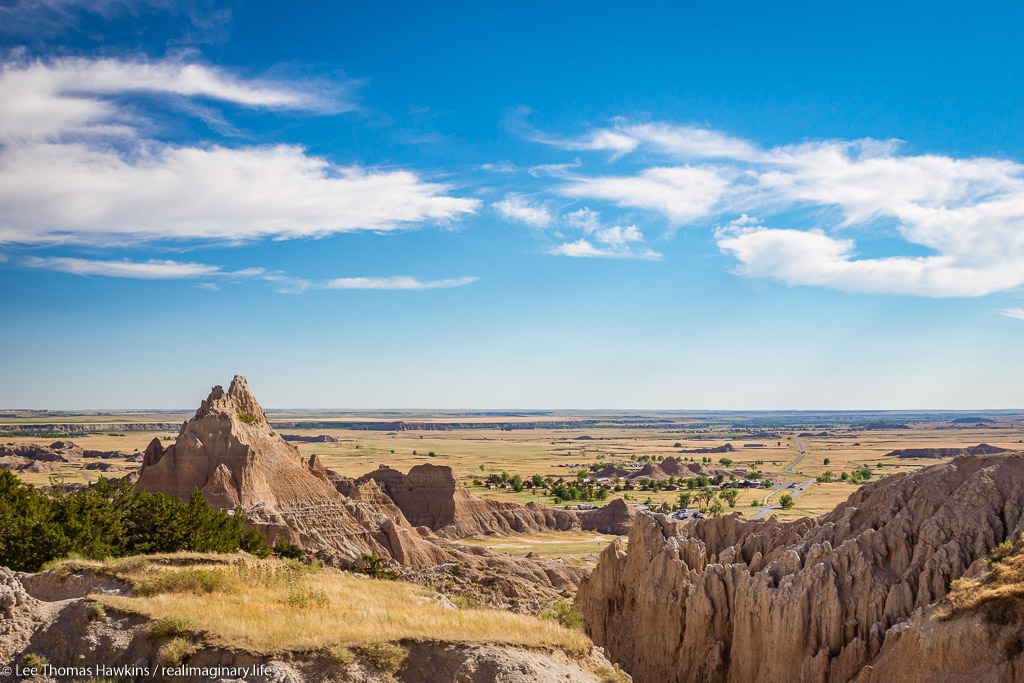 Looking west from Cedar Pass at Badlands National Park in South Dakota