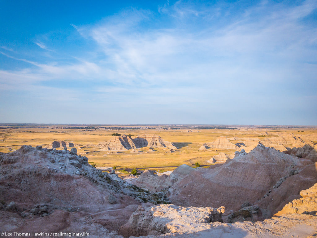 Looking south from Saddle Pass in Badlands National Park.